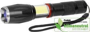 Multifunktions-COB Cree® Taschenlampe Schwarz