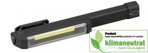 Schwarze COB-LED-Arbeitslampe mit Clip und Magnet