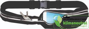 Outdoor-Hüfttasche mit reflektierendem Sicherheitsstreifen und zwei separaten Fächern