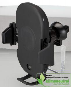 Wireless Car Charger in schwarz mit Infrarotsensor für Lüftungsgitter