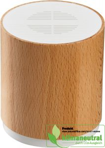Bluetooth-Speaker aus natürlichem Buchenholz 5 W mit USB-Ladekabel