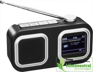 DAB Radio in schwarz mit DAB+ und FM-Funktion und farbigem Display