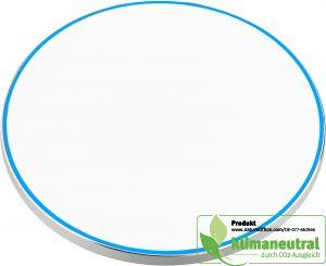 Wireless Charger 10 W in weiß mit Aluminiumschale und rutschsicherer Oberfläche