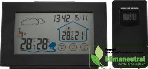 Wetterstation mit Außensensor, Hygrometer und Farbdisplay