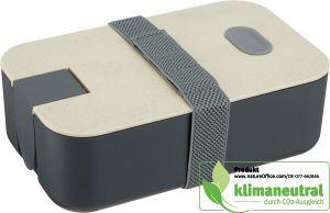 Nachhaltige Lunchbox mit Elastikband und integriertem Smartphone-Halter