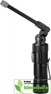 Wiederaufladbare COB- und SMD-Arbeitsleuchte mit Magnet und Clip aus schwarzem Aluminium